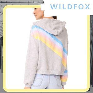 🆕 NWT WILDFOX Rainbow Spectrum Zip Up Hoodie